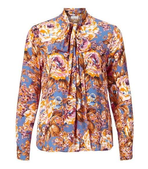 RICH & ROYAL - Damen Bluse - Schluppenbluse mit Blütenprint