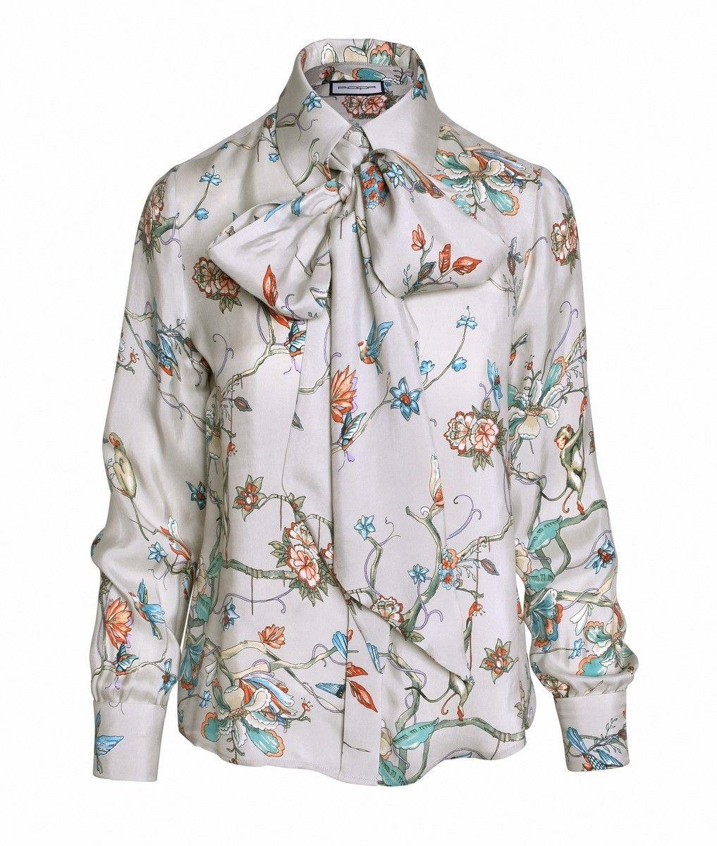 ROQA - Damen Bluse Print - Taupe