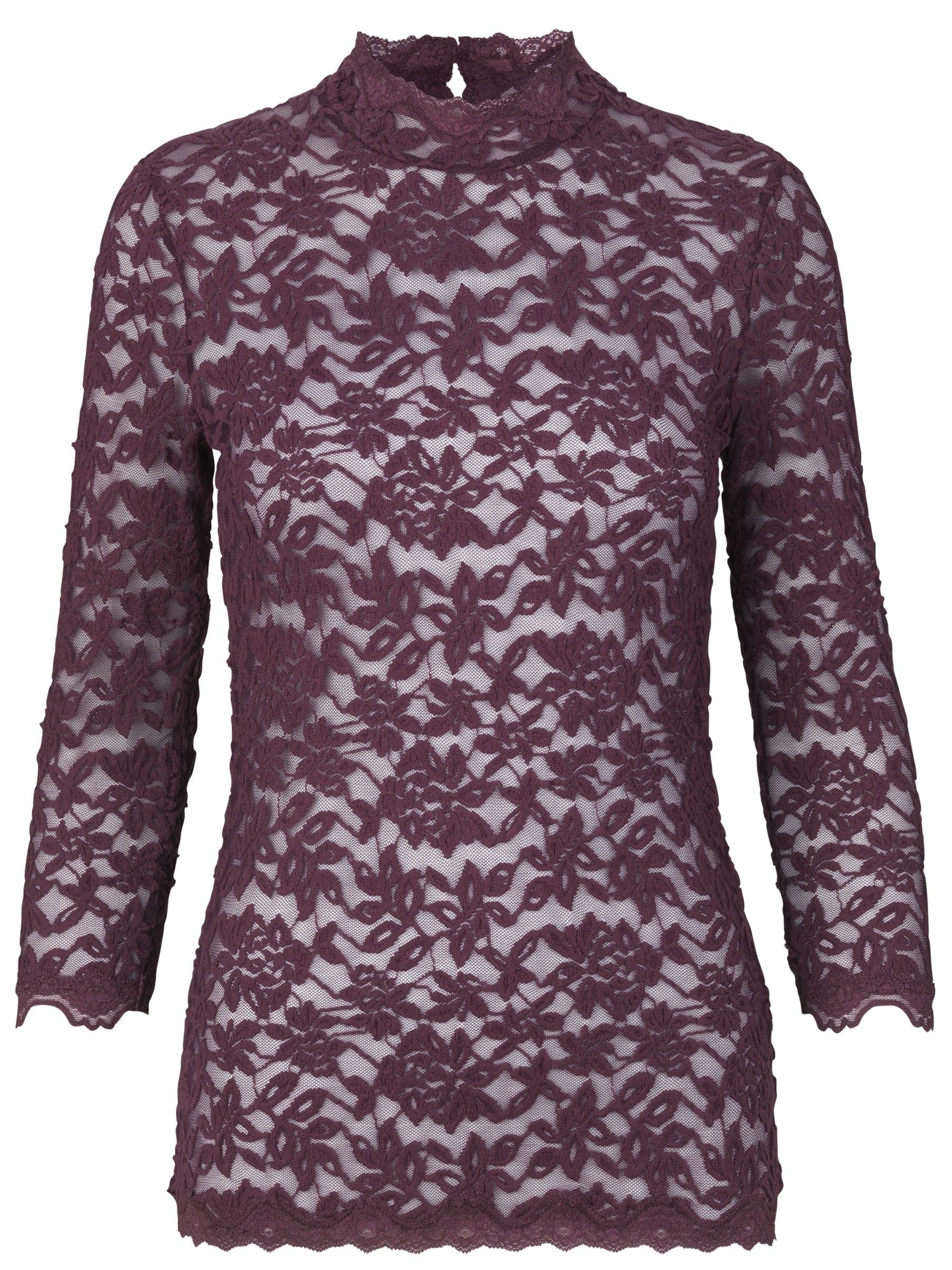 ROSEMUNDE - Damen Top - T-shirt 3/4 Sleeve - Bourgogne
