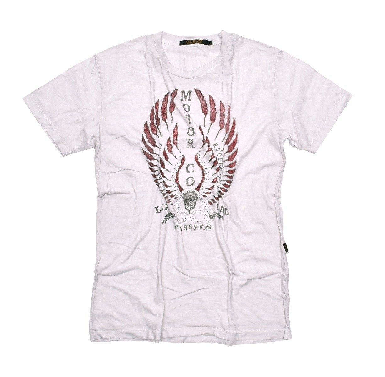 RUDE RIDERS - Herren T-Shirt - Eagle Lax Cal - off white -