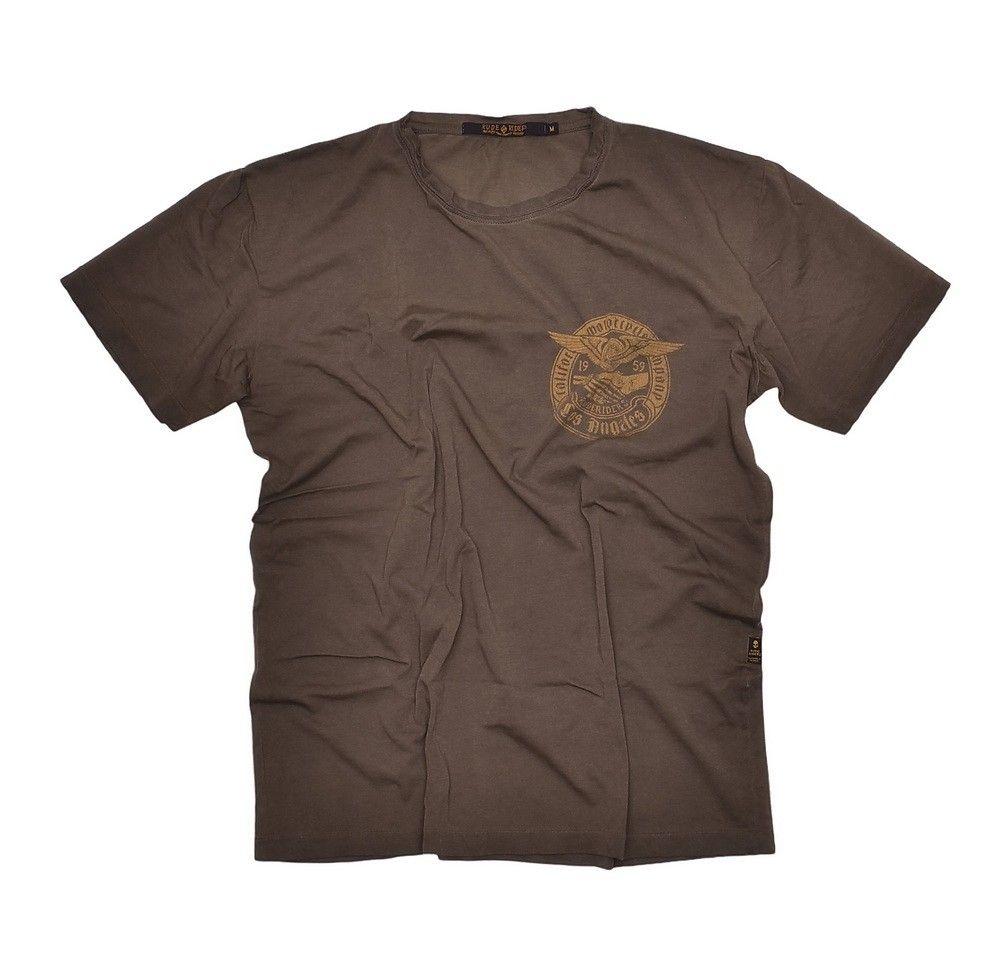 RUDE RIDERS - Herren T-Shirt - Motorcycle Company - Olive