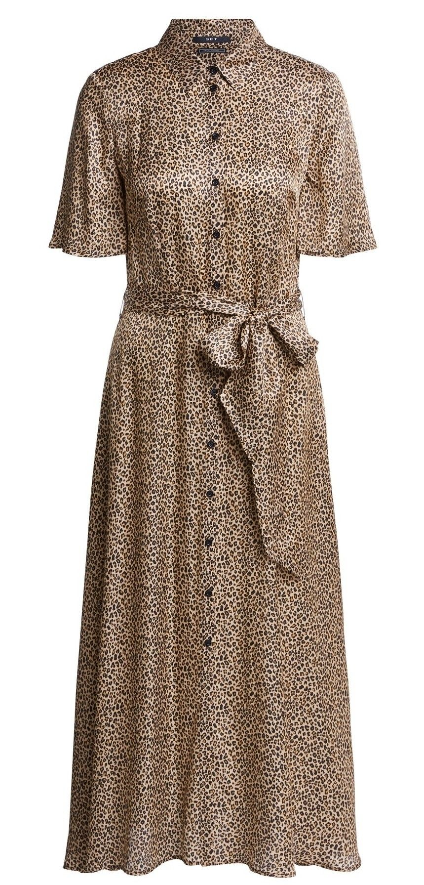 SET - Damen Kleid - Dress - Leoprint
