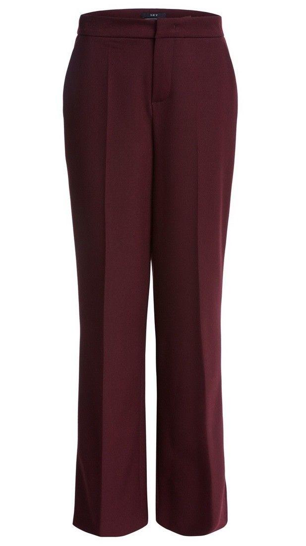 SET - Damen Hose - Marlene Style - Amarone