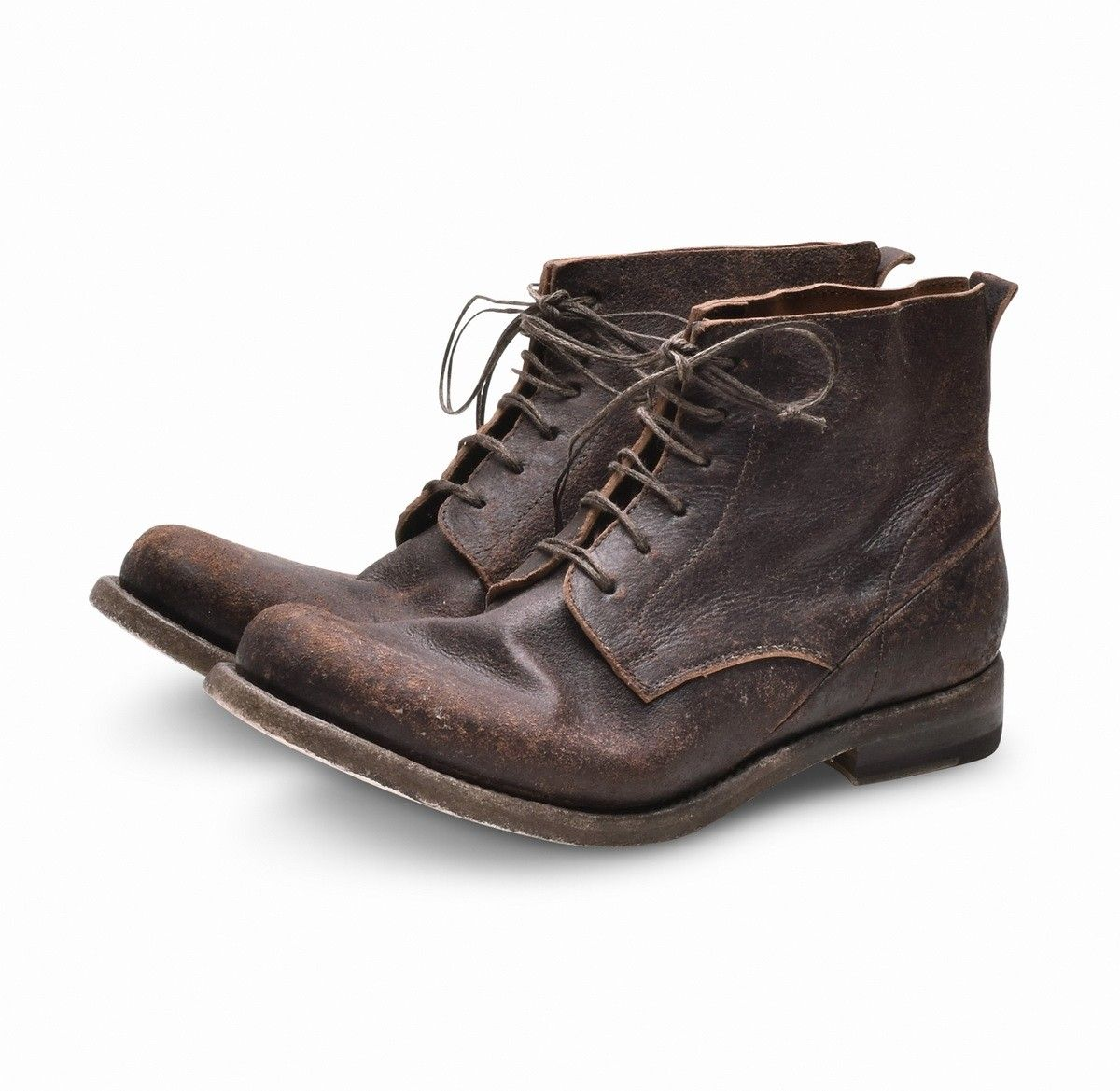 SHOTO - Herren Schuhe - Horse Front Brown Washed Cuoio 04