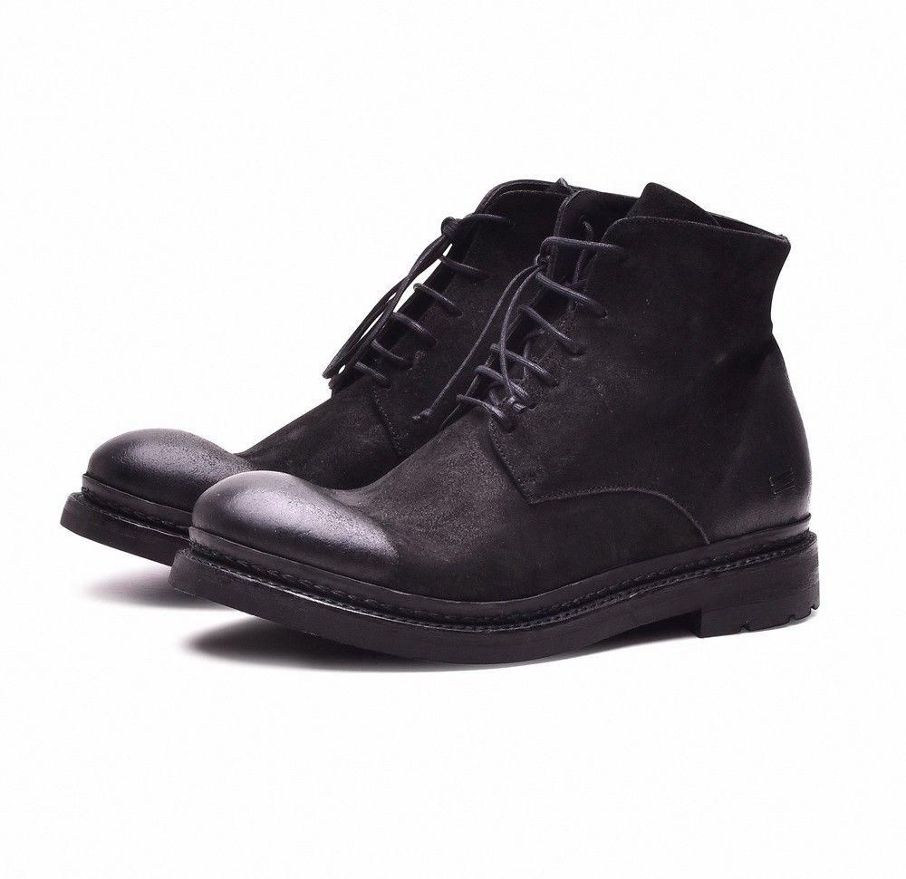 THE LAST CONSPIRACY - Herren Boot - BURI waxed suede - black -