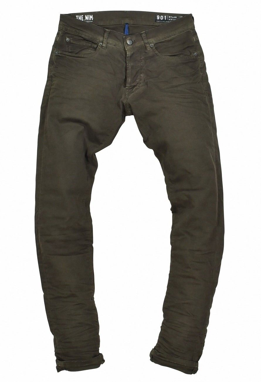 THE NIM - Herren Jeans - Dylan Slim Fit Jeans - Faded Military New