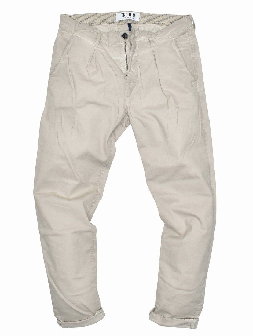 THE NIM - Herren Stoffhose - Man Chino Pince - Faded Cloud