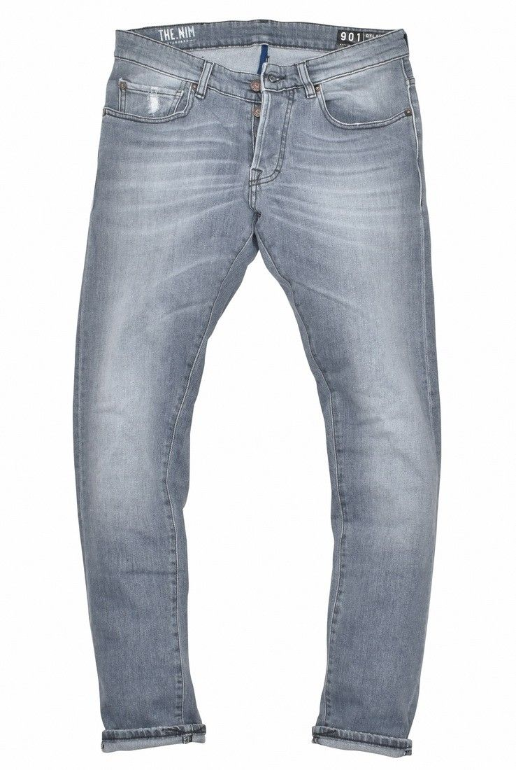 THE NIM - Herren Jeans - Dylan Slim Fit - Grey
