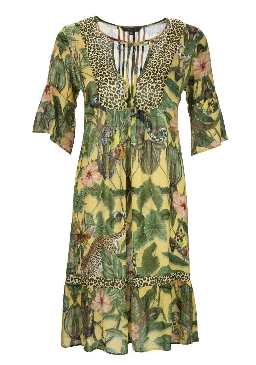 PRINCESS GOES HOLLYWOOD - Damen Kleid - Dress Leo Palm - Yellow Tree