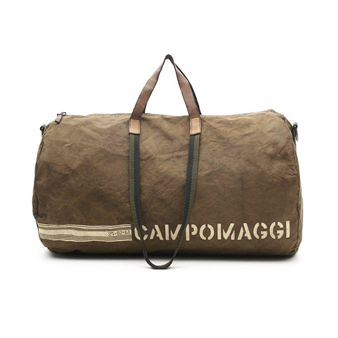 CAMPOMAGGI - Weekender - Bag Canvas Print - Beige