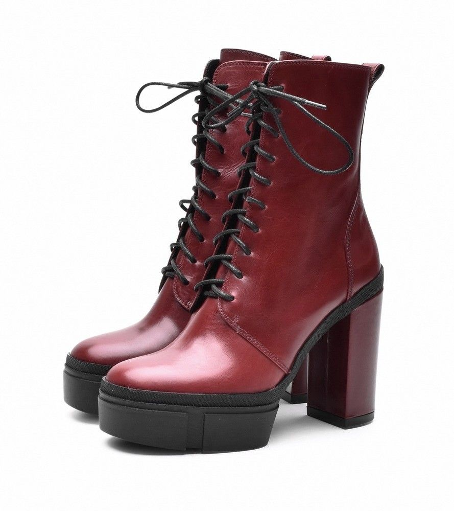 VIC MATIÉ - Damen Stiefelette - Tronc. Cuero - Dark Red