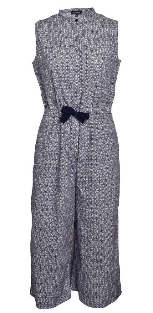 WOOLRICH - Damen Jumpsuit - Printed Popeline - White/Diamond