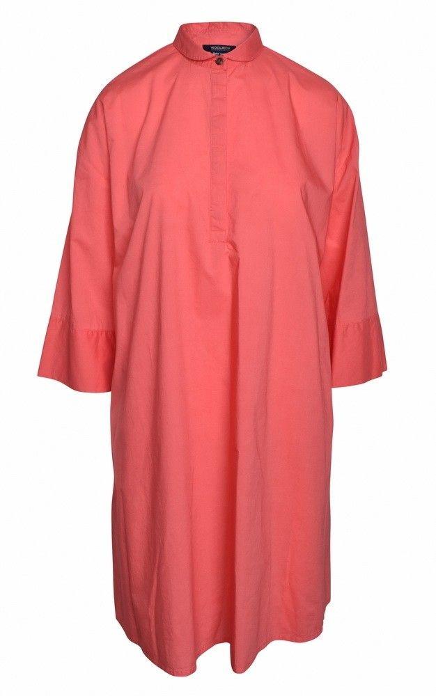 WOOLRICH - Damen Kleid - Popeline A-Line - Dress-Coral -