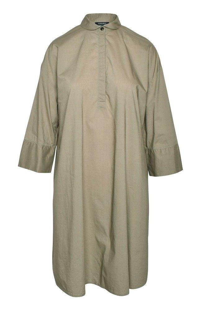 WOOLRICH - Damen Kleid - Popeline A-Line Dress - pale leaf -