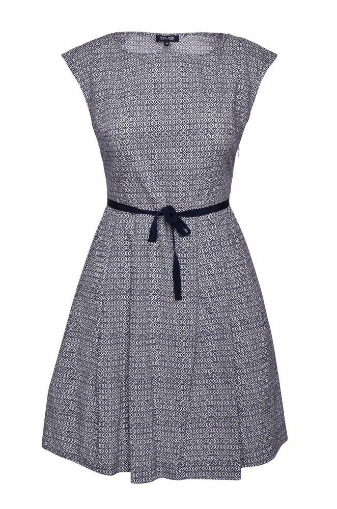 WOOLRICH - Damen Kleid - Popeline Dress - white/diamond