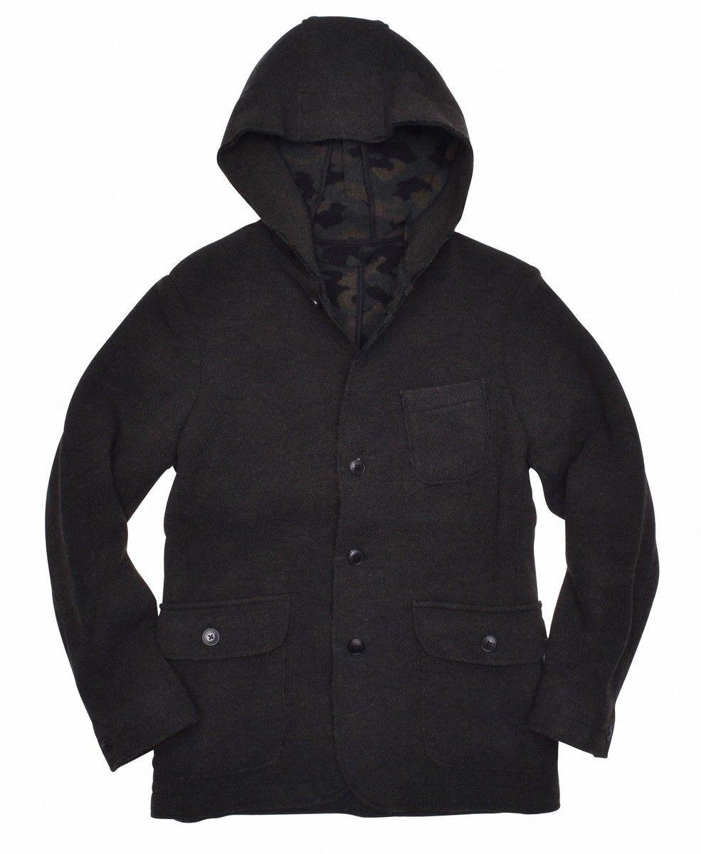 WOOLRICH - Herren Jacket - Wool Cotton Camou Blazer - Green Camou