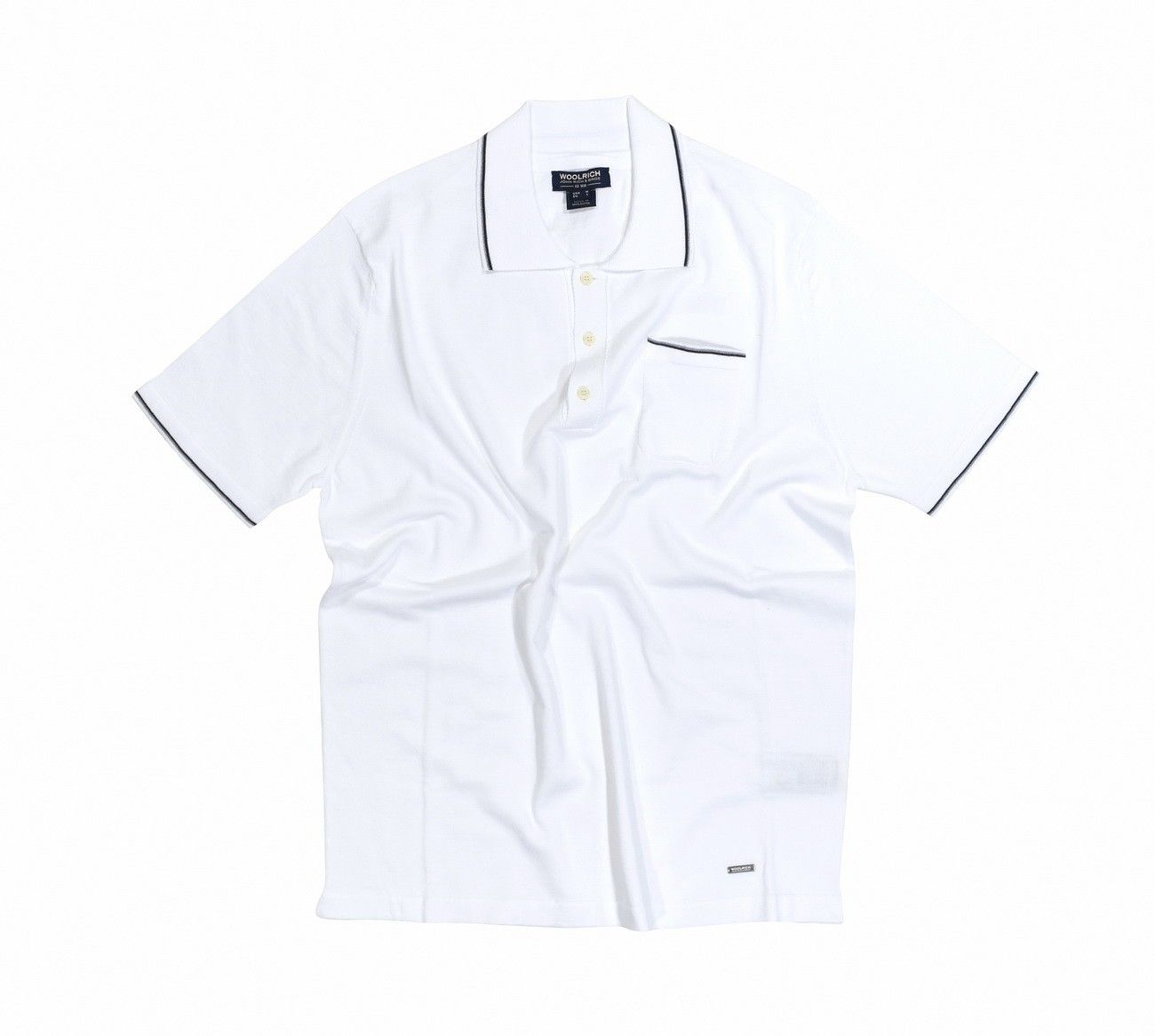 WOOLRICH - Herren Poloshirt - Knitted Polo - Optical White