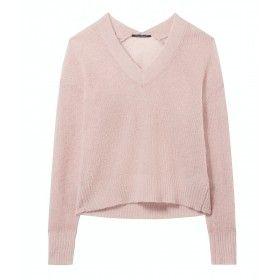 LUISA CERANO - Damen Pullover - V-Neck - Rosa