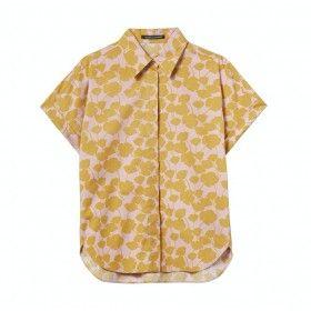 LUISA CERANO - Damen Polo - Hemdbluse - Blush / Saffron