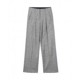 LUISA CERANO Damen Hose - Widerleg-Pants Donegal Tweed - Grey Melange