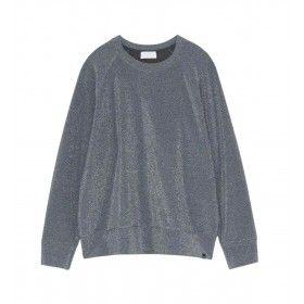 OTTOD´AME - Damen Sweater - Maglia Shirt - Piombo