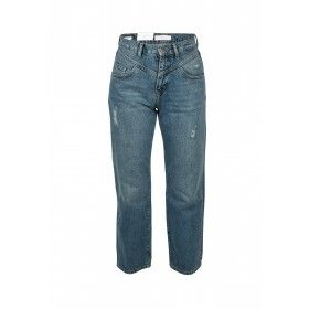 RICH&ROYAL - Damen Jeans - Vintage Straight Jeans - Dark Blue Denim