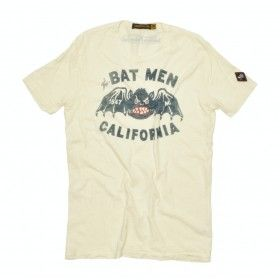 JOHNSON MOTORS - Herren T-Shirt - The Bat Man - Dirty White