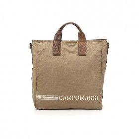 CAMPOMAGGI - Shopper - Shopping Canvas - Beige