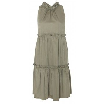 0039 ITALY - Kleid - Aurelie Dress - Khaki