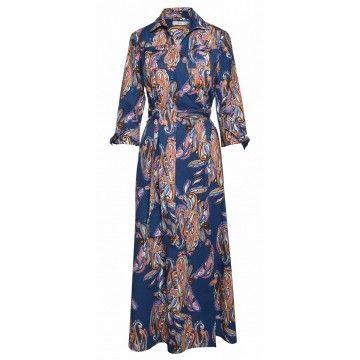 0039 ITALY - Kleid - Havanna Dress - Blue