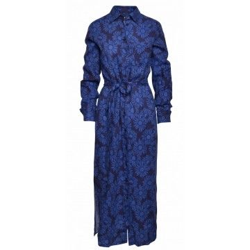 0039 ITALY - Kleid - Taya Dress - Blue Flower