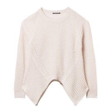 LUISA CERANO - Damen Pullover - Oversized Ripp-Pullover - Ivory
