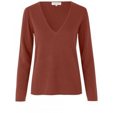 ROSEMUNDE - Damen Pullover - Laica - Red Ochre