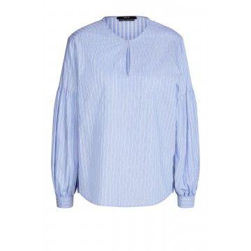 SET - Damen Bluse - Tunika - Blue/White