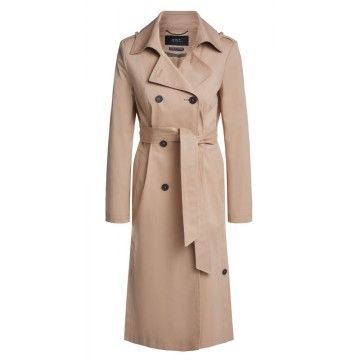 SET - Damen Mantel - Trenchcoat - Sand