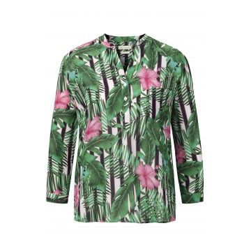 RICH & ROYAL - Damen Bluse - Blouse - Tropical Green
