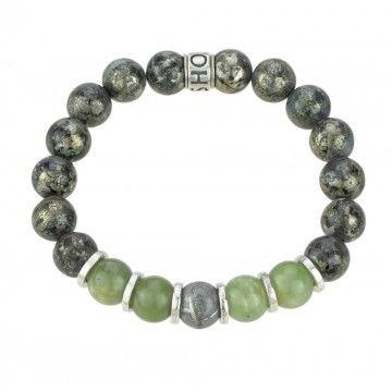SHOTO STERLING - Armband - Sterlin925 - Meteorit - Canada Jade - Eisen Pyrit