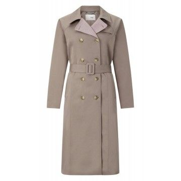 RICH ROYAL - Damen Mantel - Trenchcoat - Taupe