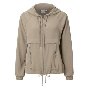 RICH & ROYAL - Damen Jacke - Sweat Jacke - Taupe
