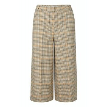 RICH & ROYAL - Damen Hose - Culotte Checked - Sunset Orange