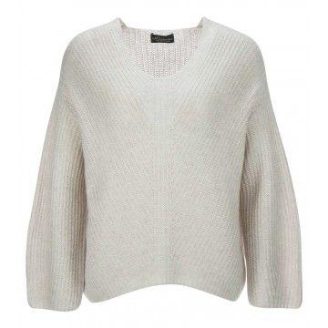PRINCESS - Damen Pullover - Pullover in diagonal Structure - Alpaca