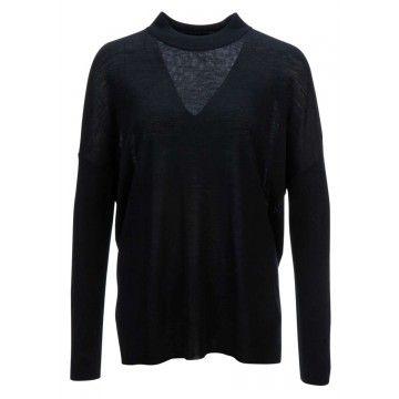 PRINCESS - Damen Pullover - Boxy Shape - Nero