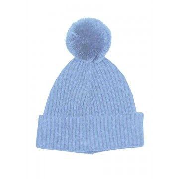 PRINCESS - Damen Mütze Basic Hat with Pompom - Winter Sky