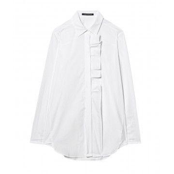 LUISA CERANO - Damen Bluse - Hemdbluse - White