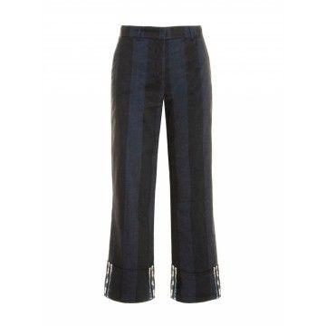 BEATRICE.B - Damen Hose - Pantalone Tessuto - Smoky Black