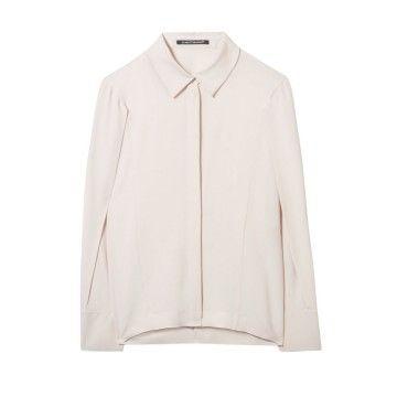 LUISA CERANO - Damen Bluse - Hemdbluse Seiden-Mix - Ivory