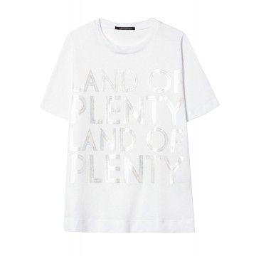 LUISA CERANO - Damen T-Shirt - Land Of Plenty - White