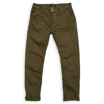 BLUE DE GENES - Herren Hose - Paulo Pavia Super Oil Trousers - Green Olive