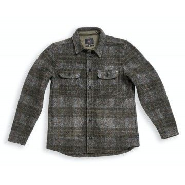 BLUE DE GÊNES - Herren Hemd - Folignio Checked Wool Overshirt - Grey Check