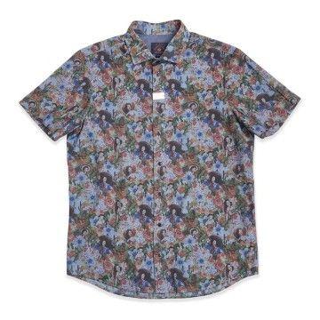 BLUE DE GÊNES - Herren Hemd - Miguel Heritage Shirt - Blue Mirage